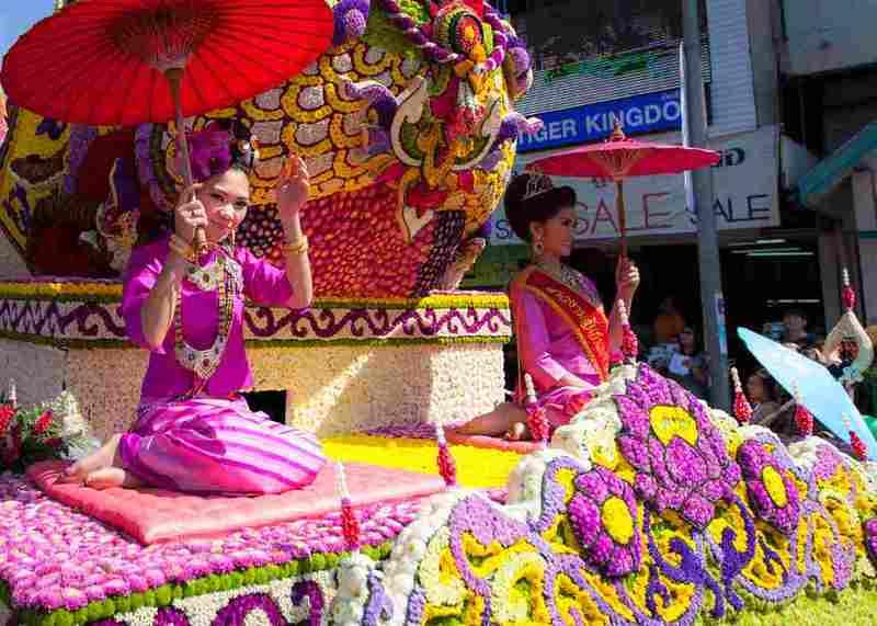 Чиангмай тайский праздник