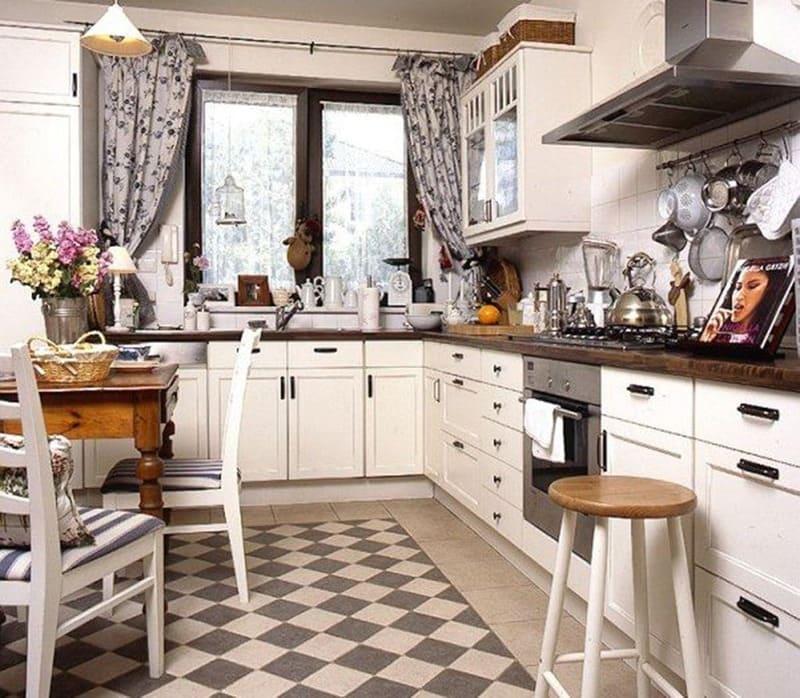 Оформление кухонного интерьера в винтажном стиле